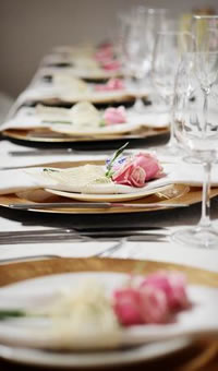 Handmade wedding place settings by Golda Publishing